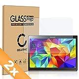 Cellonic 2X Panzerglasfolie kompatibel mit Samsung Galaxy Tab S 10.5 (SM-T800 / SM-T805) (2.5D abgerundete Kanten, 9H, 0,33mm, Full Glue) Glas Transparent Displayschutz Schutzglas Tempered Glass