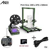 Ming Imprimante 3d Anet 3D E10 220 x 270 x 300mm DIY Éducation Bricolage Structure à Bricoler Grande Imprimante 3D en kit DIY Imprimante 3D de Bureau avec Grande Taille D'impression pour Guide d'installation de vidéo et image Supporte matériel d'impression d'ABS / PLA de 1.75mm