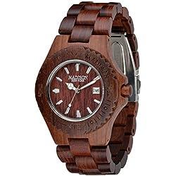 Madison Unisex-Armbanduhr Holzuhr Analog Quarz verschiedene Materialien G4542C