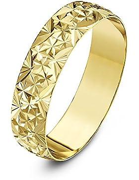 Theia Unisex - Ehering Schweres Gewicht D-Form mit Diamantartigem Design