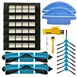 BLUELIRR Recambio de Pa/ños lavables Compatible Conga de la Serie 3090 accesorios de consumibles de robotic aspiradora,paquete de 2