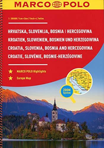 MARCO POLO Reiseatlas Kroatien, Slowenien, Bosnien und Herzegowina 1:300: Wegenatlas 1:300 000 (MARCO POLO Reiseatlanten)