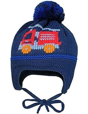 MaxiMo Mütze Feuerwehr, Pompon, Bindeband, Cappellopello Bimba