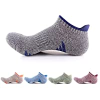 iStyleHome 5 Pairs Mens Low Cut Running Hiking Socks Cushioned Sports Sneaker Socks Outdoor Hiking Climbing Socks No Blister Terry Cushion, Breathable, Moisture Wicking, Arch Support Outdoor Sports