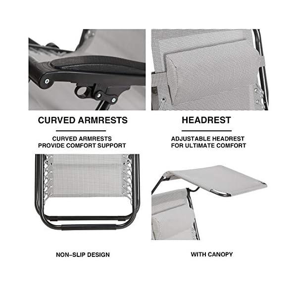 Superworth Set Of 2 Zero Gravity Chairs 200 Kg Weight Capacity