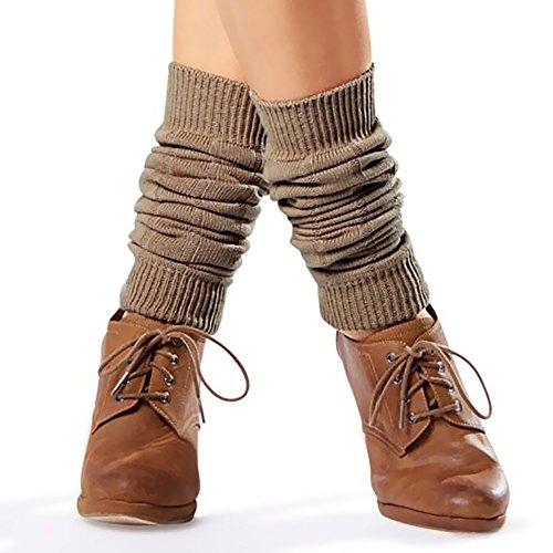 Esmara® Damen Stulpen aus Baumwolle (One Size, Taupe)