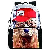 Mochila escolar, cremallera, muchos bolsillos, diseño de animal BBP106 mediano