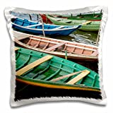 Danita Delimont - Cindy Miller Hopkins - Boats - Brazil, Amazon, Alter Do Chao. Colorful local wooden fishing boats. - 16x16 inch Pillow Case (pc_187646_1)