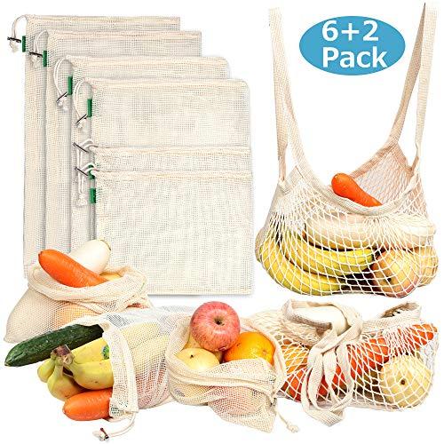 Reusable Food Bags set of 8, Nat...