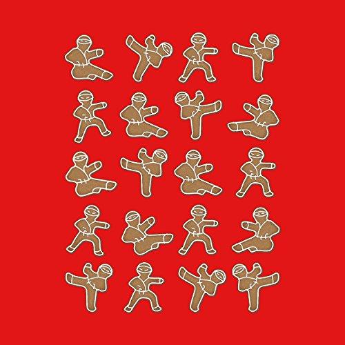 Gingerbread Man Ninjas Christmas Men's Vest Red