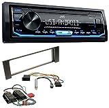 JVC KD-X151 1DIN USB Aux MP3 Autoradio für Audi A4 B6 00-04 Bose Aktivsystem Mini-ISO