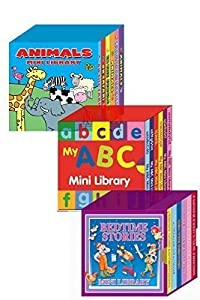 Mini Library Board Books Bumper Gift Pack for Toddlers, Children, Babies - Bedtime Board Book - ABC Board Book - Animals Board Book Mini Library - 18 Board Books Collection Set RRP £14.96 - Yours for Just £8.99 - While Stock Lasts