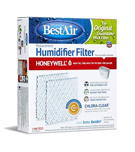 bestair HW700, Honeywell Ersatz, Papier Wick Luftbefeuchter Filter, 15x 4,6x 17,3cm 6Pack