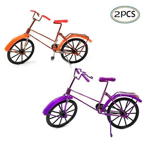 Fahrrad Modell 2 Stücke Deko Geschenk Spielzeug Fahrräder Drehbar Zufällige Farbe