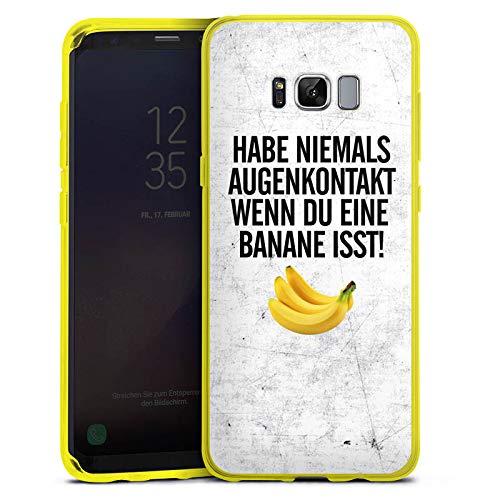 DeinDesign Silikon Hülle transparent gelb kompatibel mit Samsung Galaxy S8 Plus Case Schutzhülle Augenkontakt Banane Banana