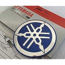 100/% Original 12mm Durchmesser Yamaha Stimmgabel Aufkleber Emblem Logo Silber Schwarz Gew/ölbt Gel Harz Selbstklebend Motorrad Jet Ski //Atv //Schneemobil// Gitarre