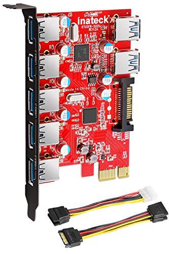 Inateck KTU3FR-5O2U - Tarjeta expansión USB 3.0 7