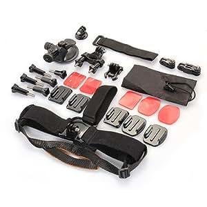 Assortiment Accessoire Support Bombé/Plat Sangle Fixation Pour GoPro HERO 2 3 3+