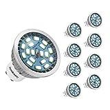 Jpodream GU10 LED Lampe, 7W 550 Lumen LED Leuchtmittel, Ersetzt 60W Halogenlampen, Kaltweiß 6000K, 140°Strahlwinke, AC85-265V, 8er Pack