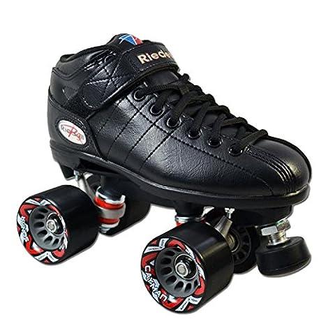 Riedell Skates R3 Roller Skate,Black,7