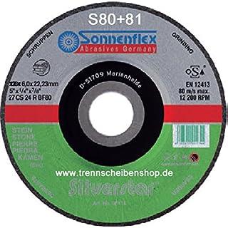 10x Schruppscheibe, S80_Ø 115 x 6,0 mm, Schleifscheibe, Natur und Kunststein, Beton, Aluminium Alu, NE Metalle, Stahlguss, Premium-Qualität.