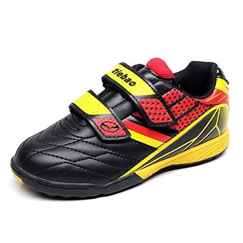 Tiebao Boys Classic Hook&Loop Soccer Sneakers Professinal Football Shoes Kids/Junior Size Test