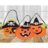 Preisvergleich für YC DOLL Halloween Candy Bag, Kürbis Beutel, Set Von 3 Halloween Party & Holiday Trick-Oder-Treat Tote Tasche/Halloween Candy Totes Bag/Kostüm-Accessoire Totes Bag/Halloween-Leckereien Taschen