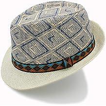 HYF Sombrero de Paja para Hombre Sombrero Elegante de Sol Homburg Queen  Gorra de Playa Sombrero 79be93d52bb