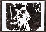 Gandalf Herr Der Ringe (The Lord Of The Rings) Poster Plakat Handmade Graffiti Street Art - Artwork