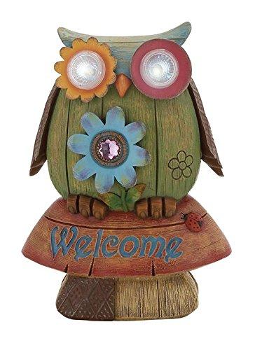 colorful-solar-buho-madera-look-estatua-de-bienvenida