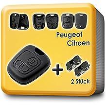 myshopx - Carcasa para llave de Peugeot (compatible con modelos 106, 206, 207, 306, 307, 406, C23)