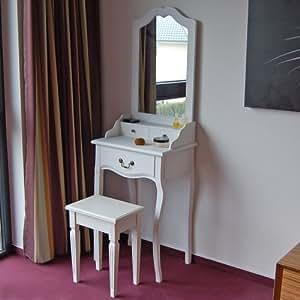 Coiffeuse emma avec 3 tiroirs largeur 50 cm blanc for Jugendzimmer amazon