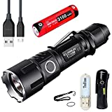Klarus XT11GT Is Klarus XT11S Upgraded Version CREE XPH35 HI E4 LED 2000 Lumens 18650 Tactical Rechargeable Flashlight With 18650 3100mah Battery+Thenines USB Light