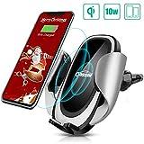 Oasser Drahtloses Autoladegerät Handyhalterung Wireless Charger 5W/10W für Samsung S9/S9+/Note 8/S8/Note 5 iPhone 8/iPhone 8 Plus/iPhone XS/X alle Qi Fähige Geräte MEHRWEG