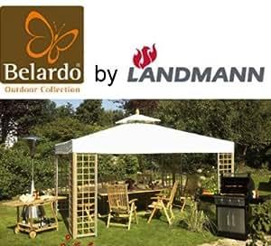 belardo by landmann gartenpavillon pavillon 3x4m teak holz partyzelt. Black Bedroom Furniture Sets. Home Design Ideas