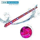 Roleadro 81W Led Pflanzenlampe Streifen IP65 85CM Wasserdicht Hydroponics Light für Growbox Gewächshaus Wachstumslampe
