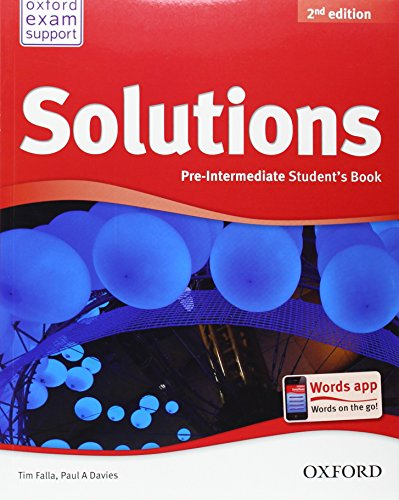 Solutions. Pre-intermediate. Student's Book (Miscellaneous) - 9780194552875 (Solutions Second Edition) por Varios Autores