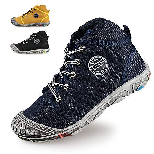 Jungen Mädchen Schuhe Cowboy Sportschuhe Outdoor Schuhe Laufschuhe High-top Schnürer Schmutzige Schuhe (32 EU, Blau) ()
