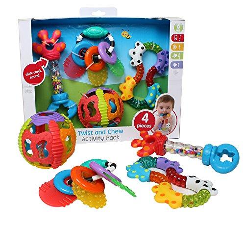 Playgro Twist and Chew Activity Pack Niño/niña juguete para el aprendizaje - juguetes para el aprendizaje (290 mm, 100 mm, 240 mm, 330 g, Caja con ventana)