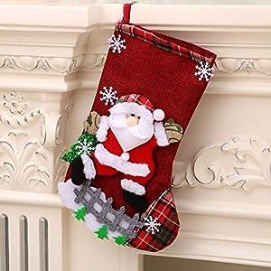 Longsing Medias de Navidad Calcetín