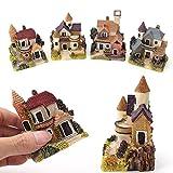 kangql Miniatura casa Fairy Garden Micro Landscape Home Decoration Resina Craft Decor Random Color And Pattern