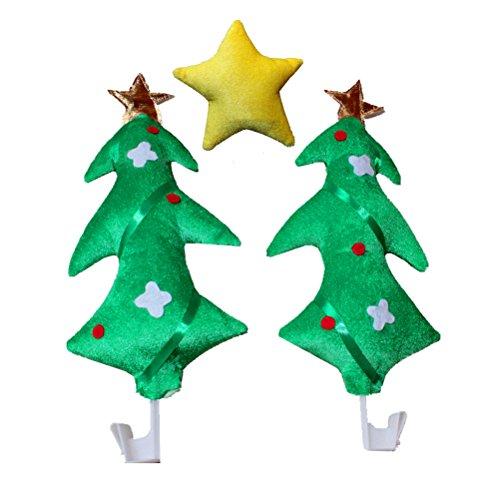 BESTOYARD 3 Stück Auto Weihnachtsbaum Kostüm mit Stern Weihnachtsschmuck Rentier Kostüm für KFZ PKW Fahrzeuge (Autos Kostüm)
