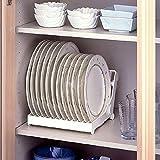 Faltbare Dish Teller Trocknen Rack Organizer Abtropfgestell Kunststoff Aufbewahrung Halter Weiß ^
