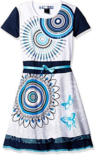 DESIGUAL - Vestito da bambina maniche corte albany 11/12 bianco
