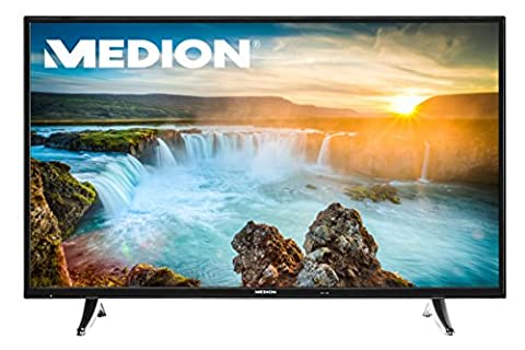 MEDION LIFE X18058 MD 31079 138,8cm (55 Zoll Full HD) Fernseher (Smart-TV mit LED-Backlight, Triple Tuner, DVB-T2, HDMI, CI+, 200 Hz RMR, AVS, Mediaplayer, Wireless Display) schwarz