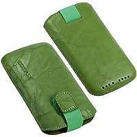 Prodotto originale EXXCASE in pelle delavé verde per Blackberry (Rim) Bold 9790 con funzione, numerva, Case, custodia, astuccio, Slide, protezione Display, sicuro