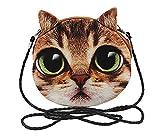 Blancho Reizende Große Augen-Katzen-Tier-Plüsch-Satchel