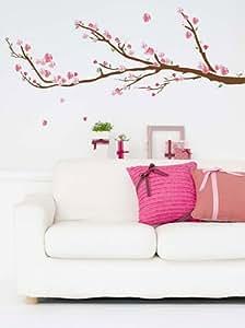 Art Appliques - Adesivo murale, motivo ciliegio in fiore
