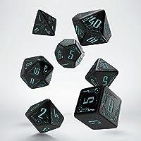 Q-workshop Galactic Black & Blue Dice Set (7)