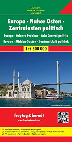 Europe - Middle East - Asia Central Political Map 2012 par Freytag-Berndt und Artaria KG